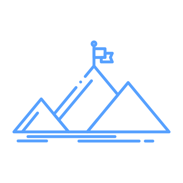 success mountain by Flatart from the Noun Project